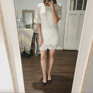 Skies are Blue White Lace Dress